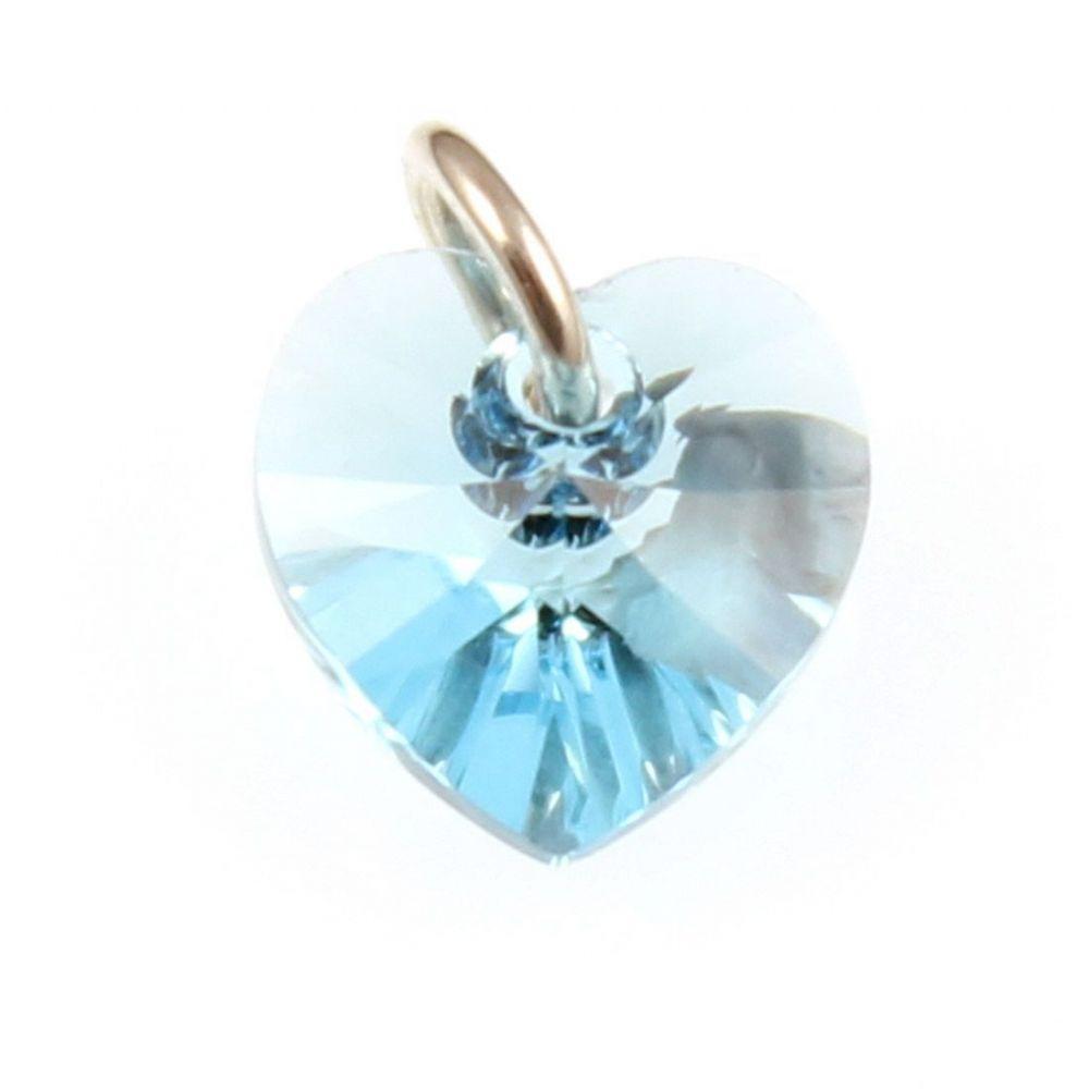 0e9cb500c ... discount code for charm school uk sterling silver charms swarovski  crystal charms aquamarine crystal heart charm ...